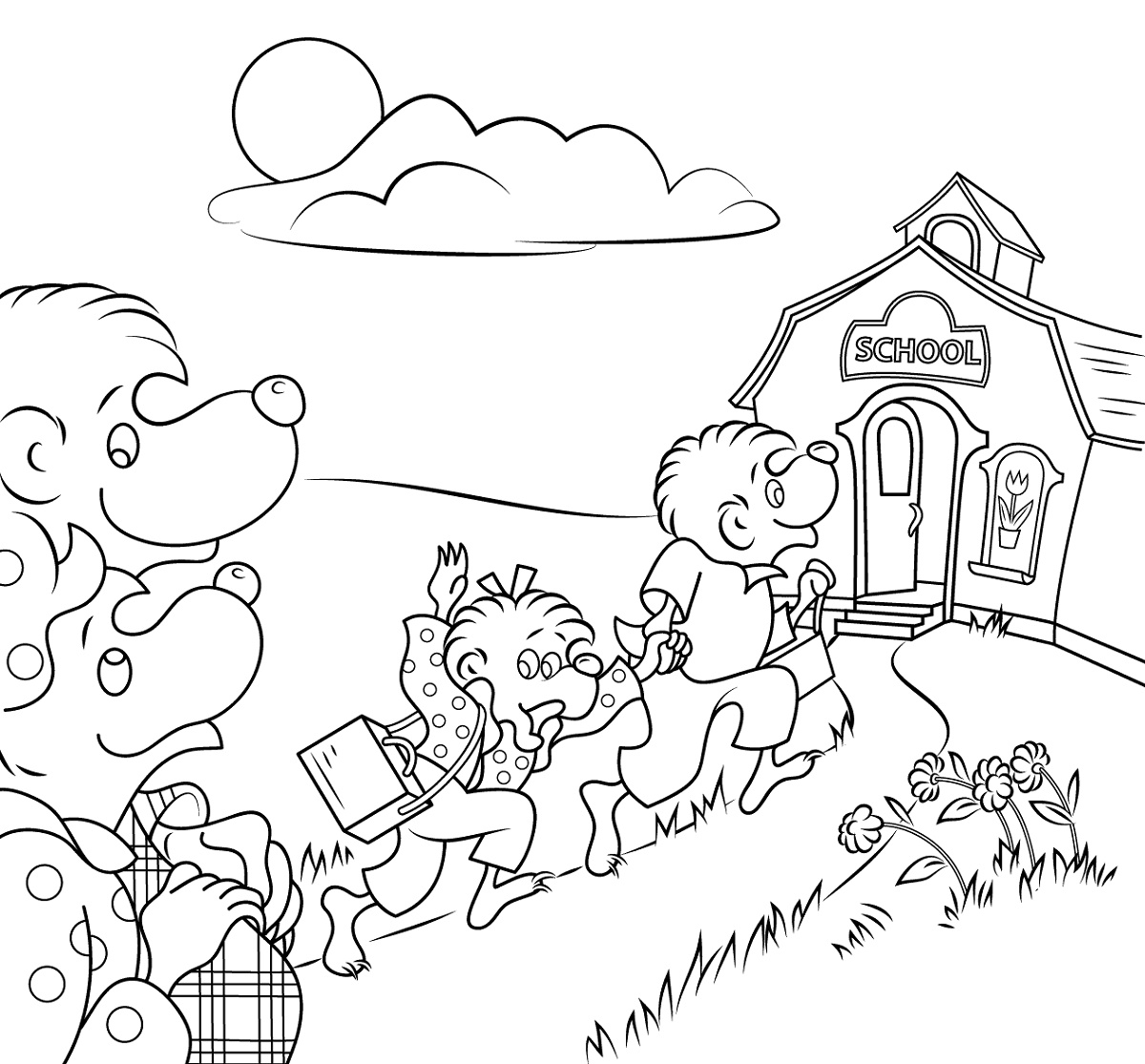 Berenstain Bears Coloring Pages Go to SchoolBerenstain Bears Coloring Pages Go to School