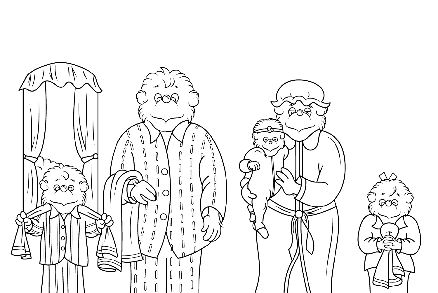 Berenstain Bears Coloring Pages Printable
