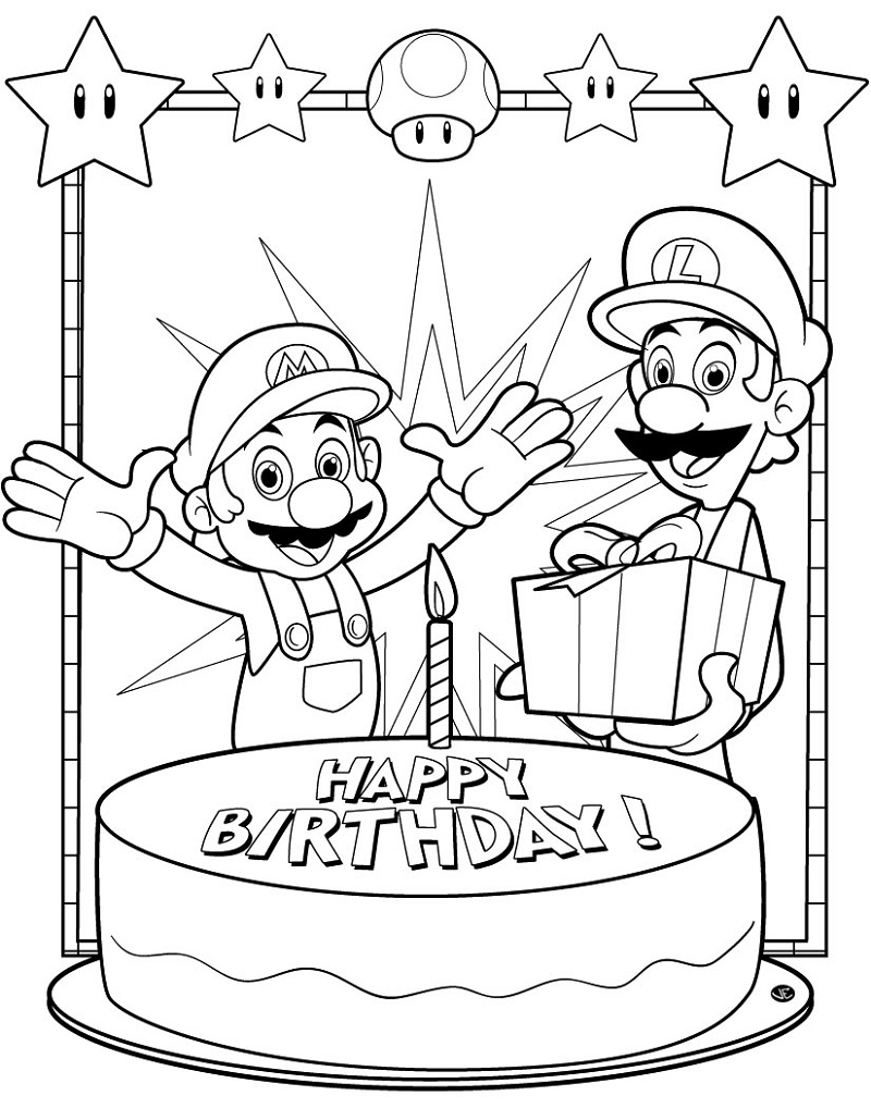 Birthday-Coloring-Pages-Mario-Brothers