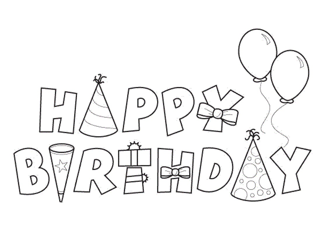 Birthday Coloring Pages Printable