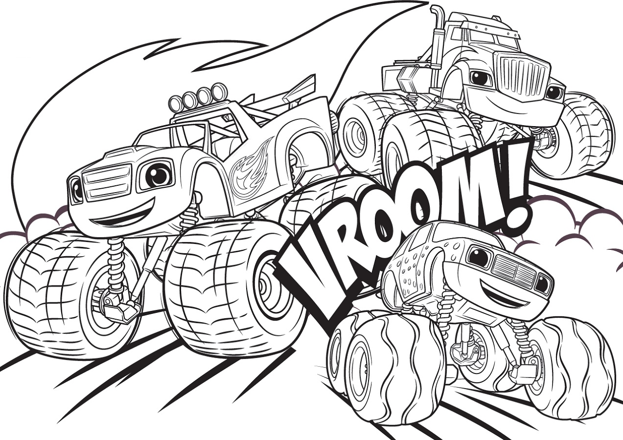 Blaze Coloring Pages And The Monster Machines