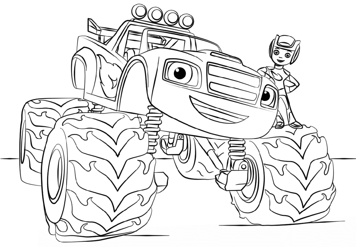 Blaze Coloring Pages Monster Truck