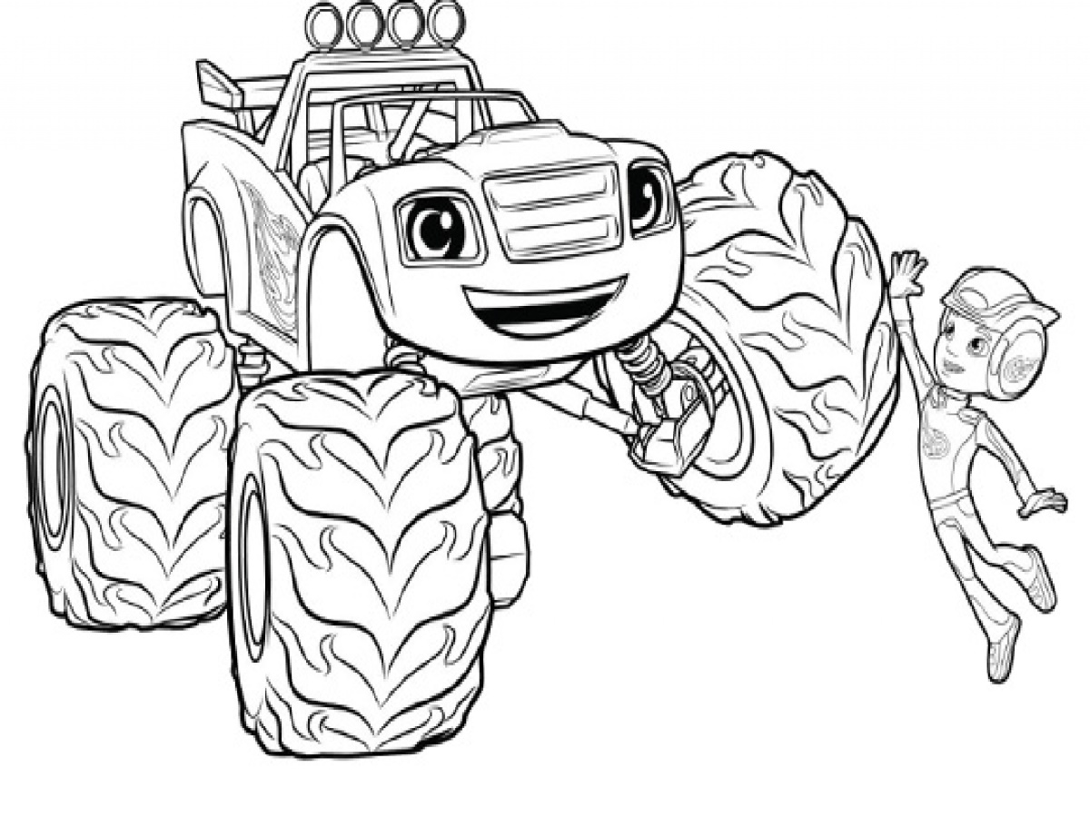 Blaze Coloring Pages Printable