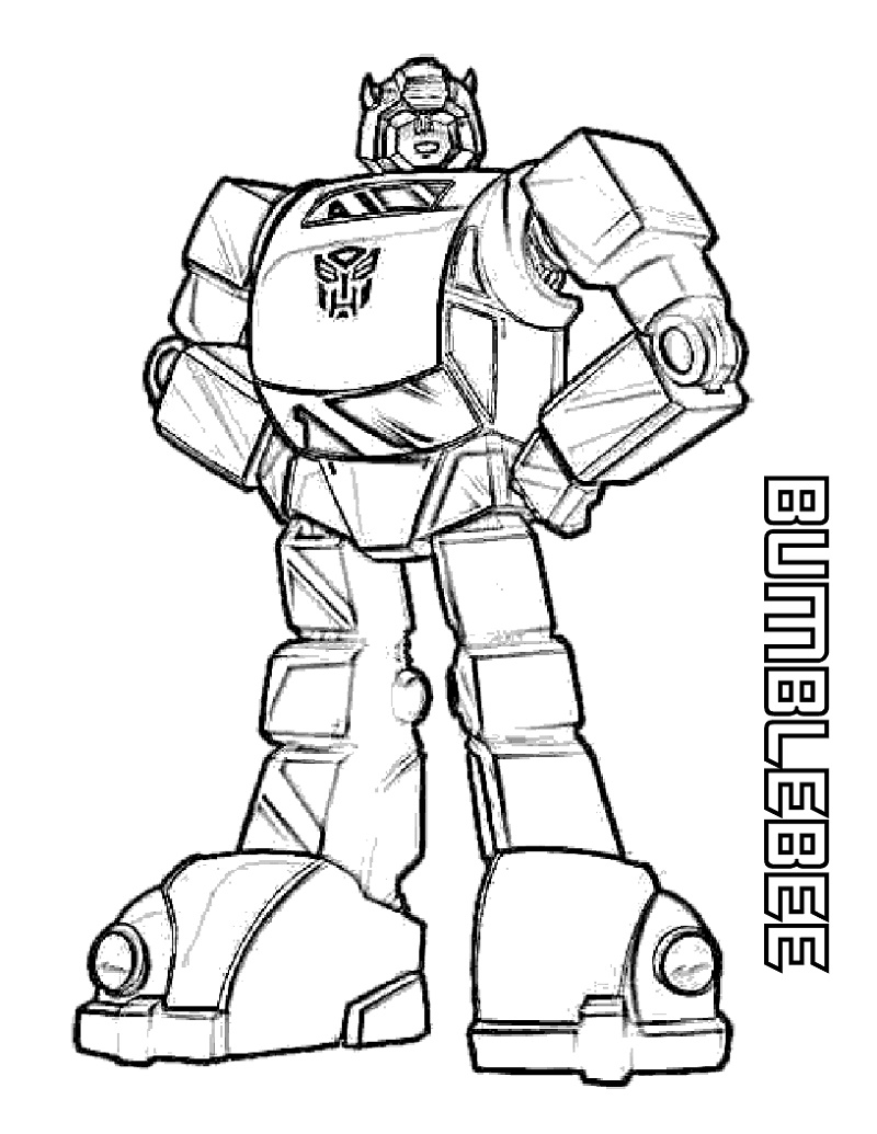 Bumblebee Transformer Coloring Page For Kids