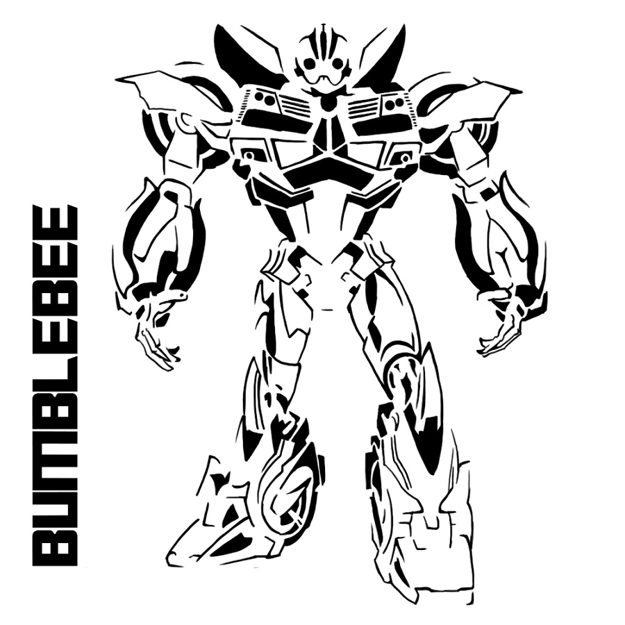 Bumblebee-Transformer-Coloring-Page-Free