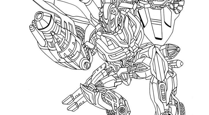 Bumblebee Transformer Coloring Page Printable