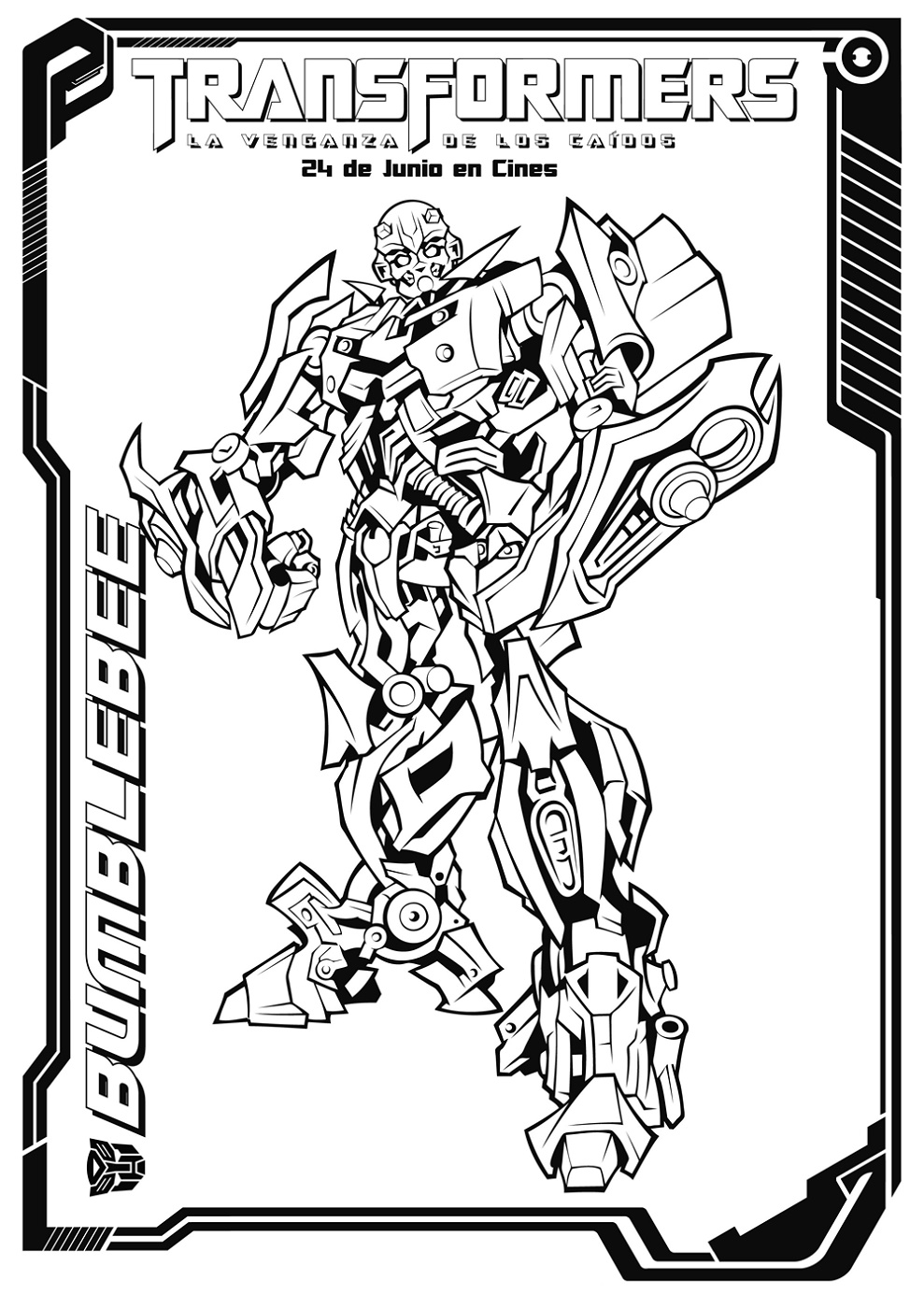 Bumblebee Transformer Coloring Page To Print