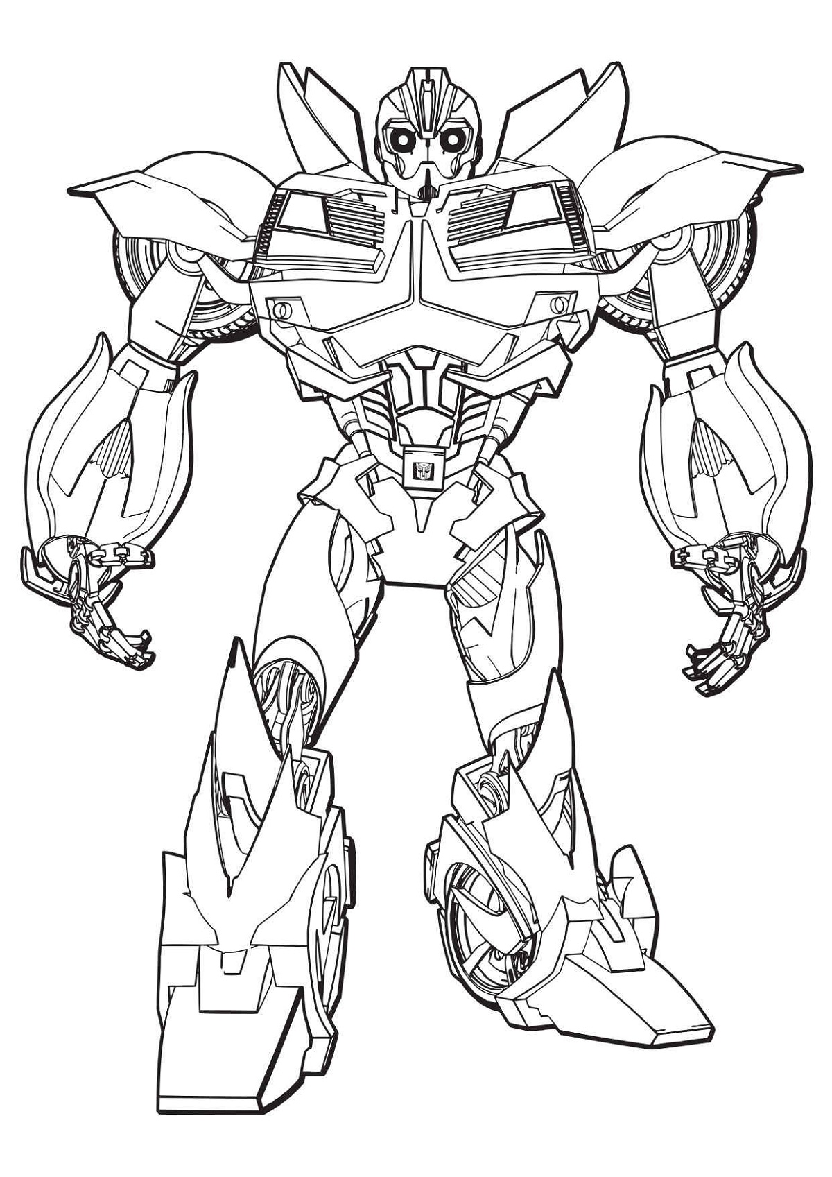 Bumblebee Transformer Coloring Page Transformer Prime Beast Hunter