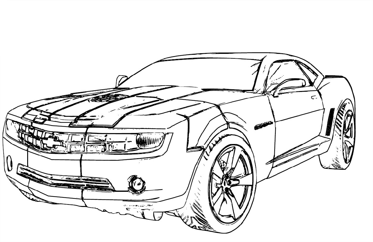 Camaro Coloring Pages Chevrolet