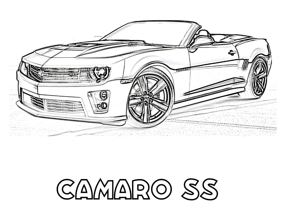Camaro Coloring Pages Free