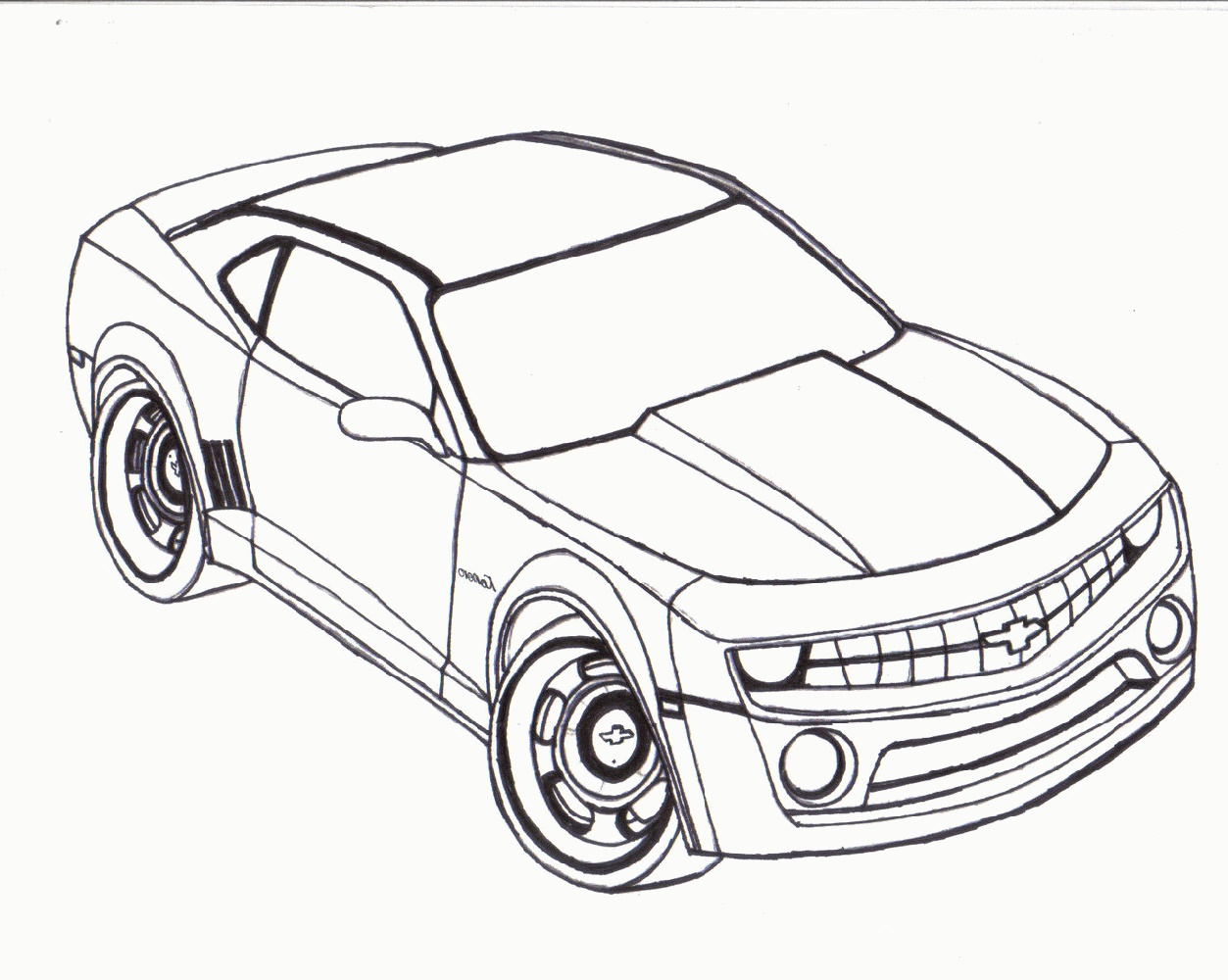 Camaro Coloring Pages Printable