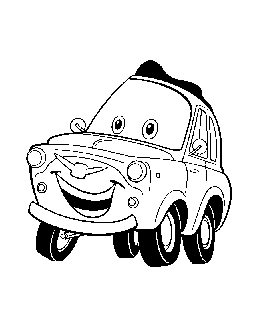 Cars Coloring Book To Print