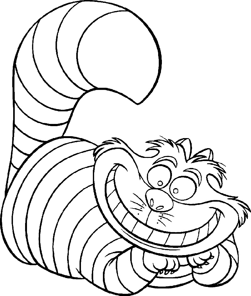 Cheshire Cat Coloring Pages Free