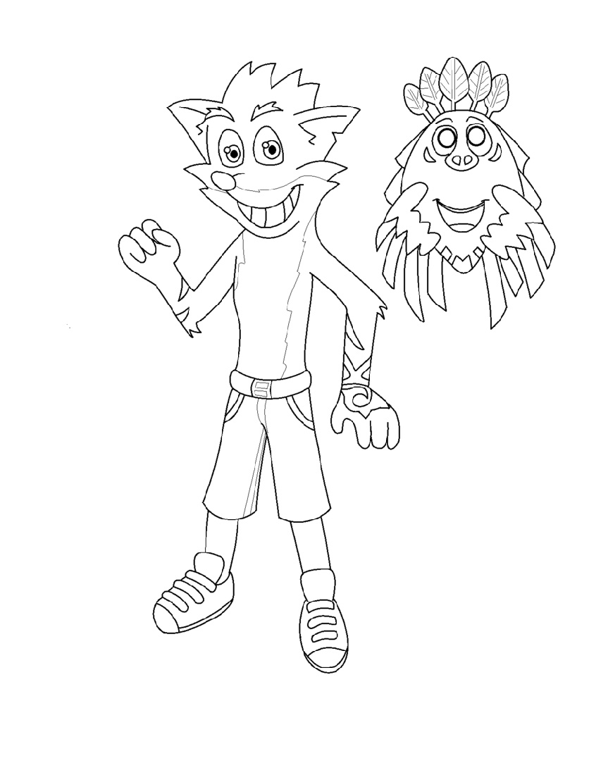 Crash Bandicoot Coloring Pages Printable