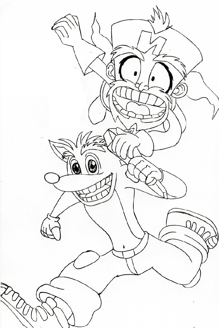 Crash Bandicoot Coloring Pages To Print