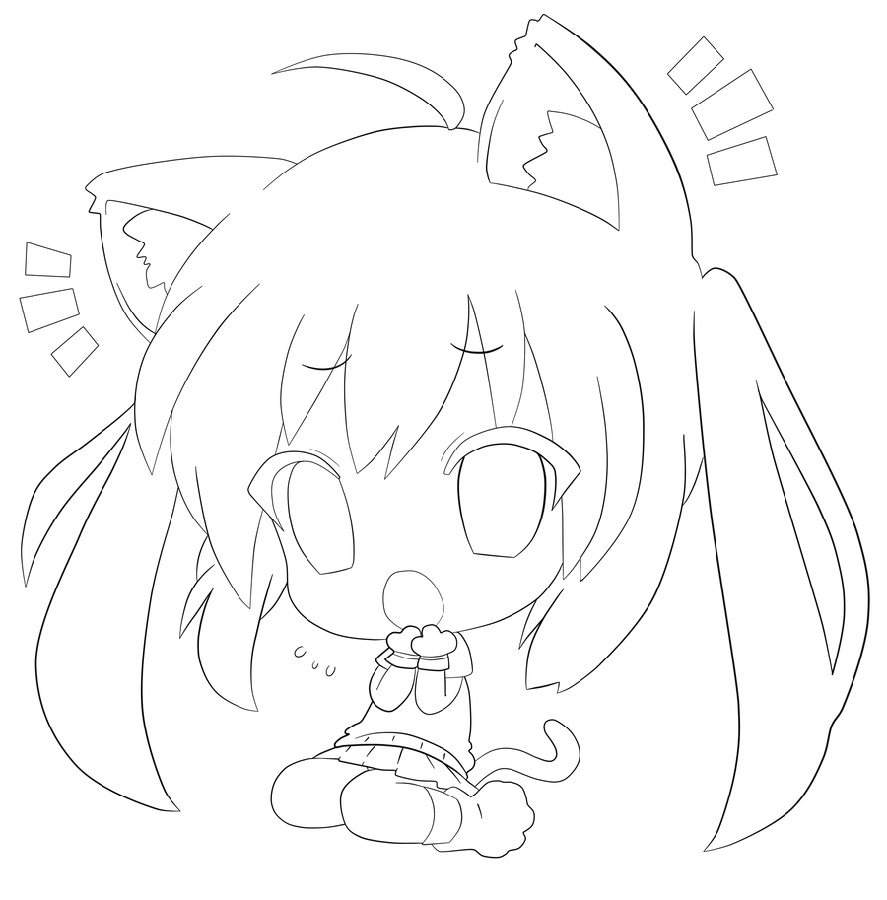 Cute Anime Coloring Pages Free