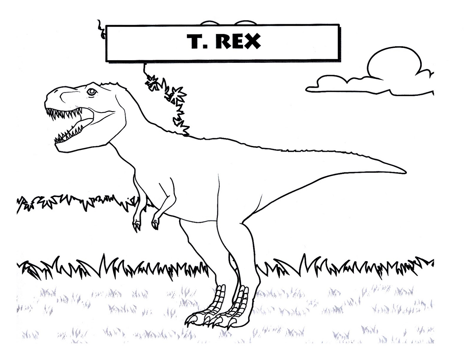 Dinosaur T Rex Coloring Page