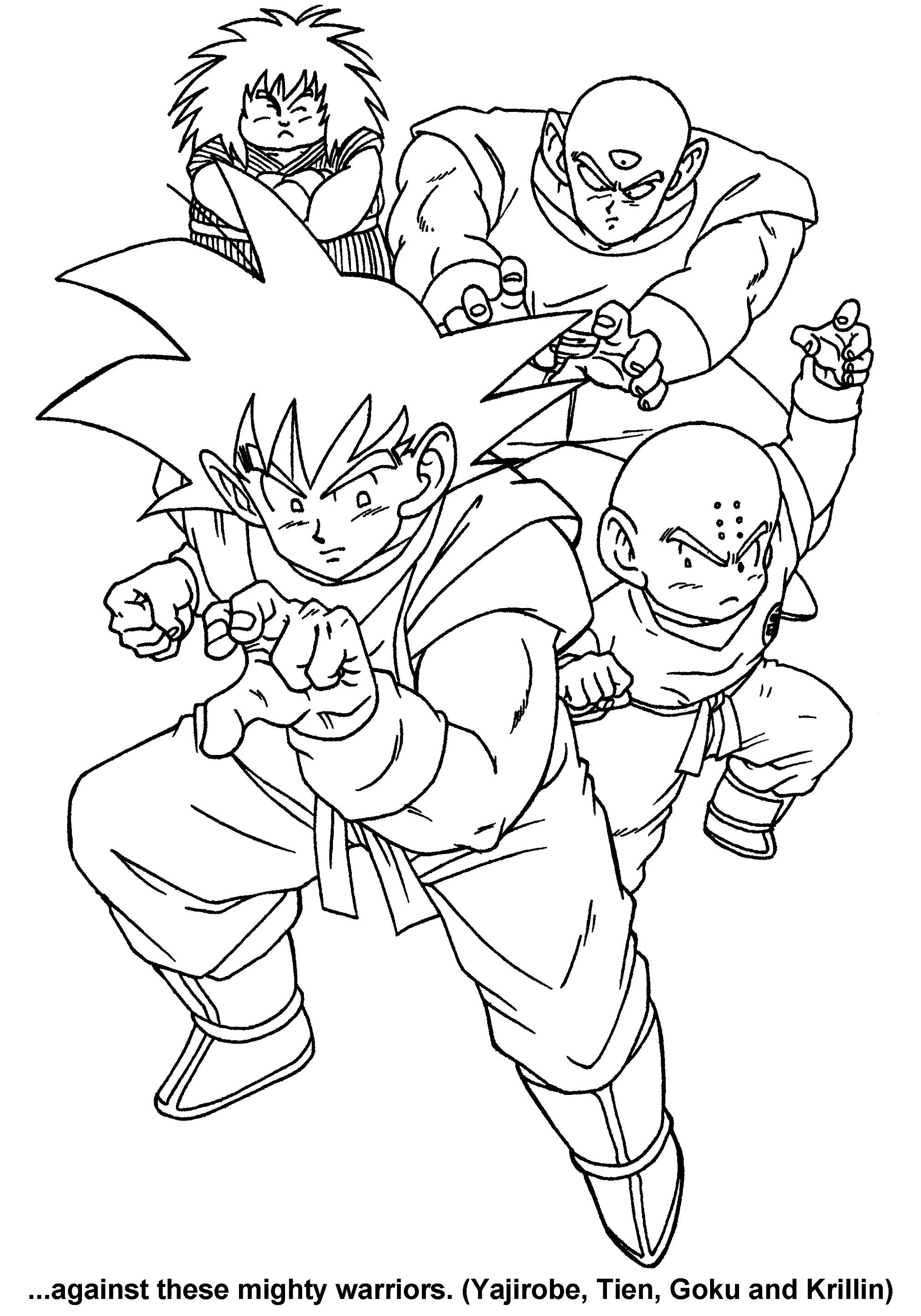 Dragon Ball Z Coloring Sheets Characters