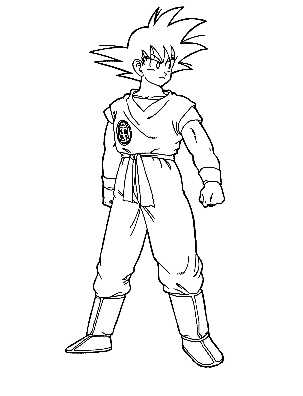 Dragon Ball Z Coloring Sheets Goku