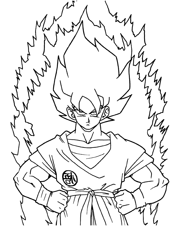 Dragon Ball Z Coloring Sheets Kai