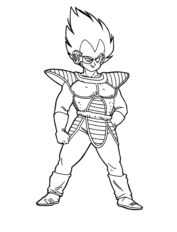 Dragon Ball Z Coloring Sheets Saiyan