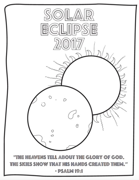 Eclipse Coloring Pages For Kids