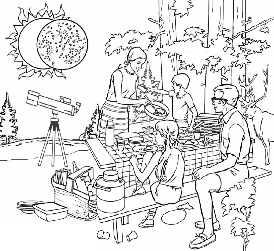 Eclipse Coloring Pages Free