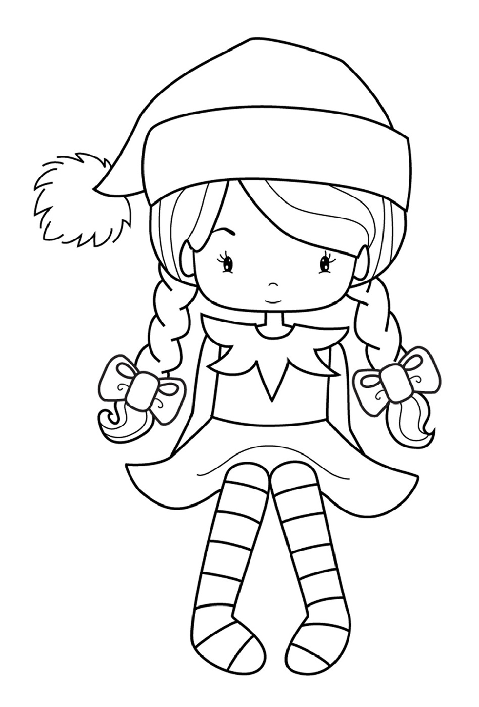 Elf on the shelf printable coloring pages girl