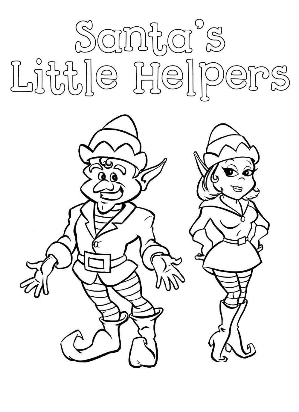 Elf on the shelf printable coloring pages pictures