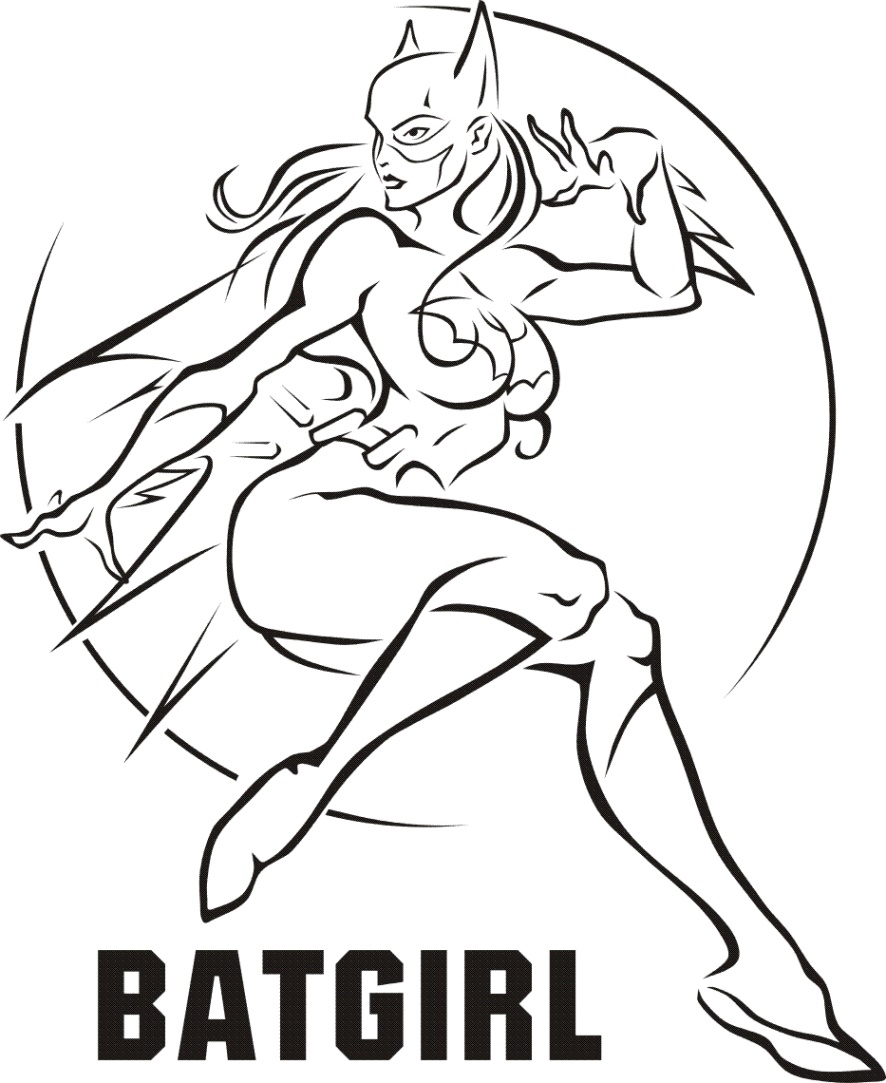Female-Superhero-Coloring-Pages-Batgirl