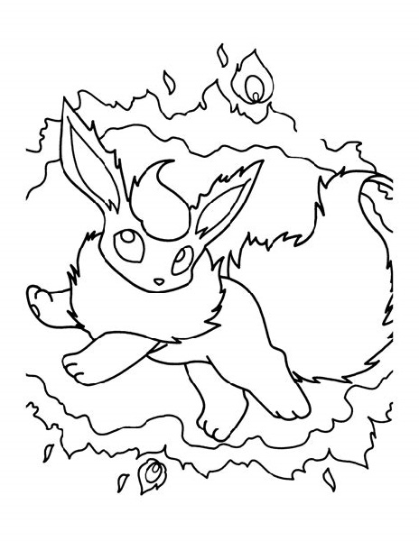 Flareon Coloring Page Pictures