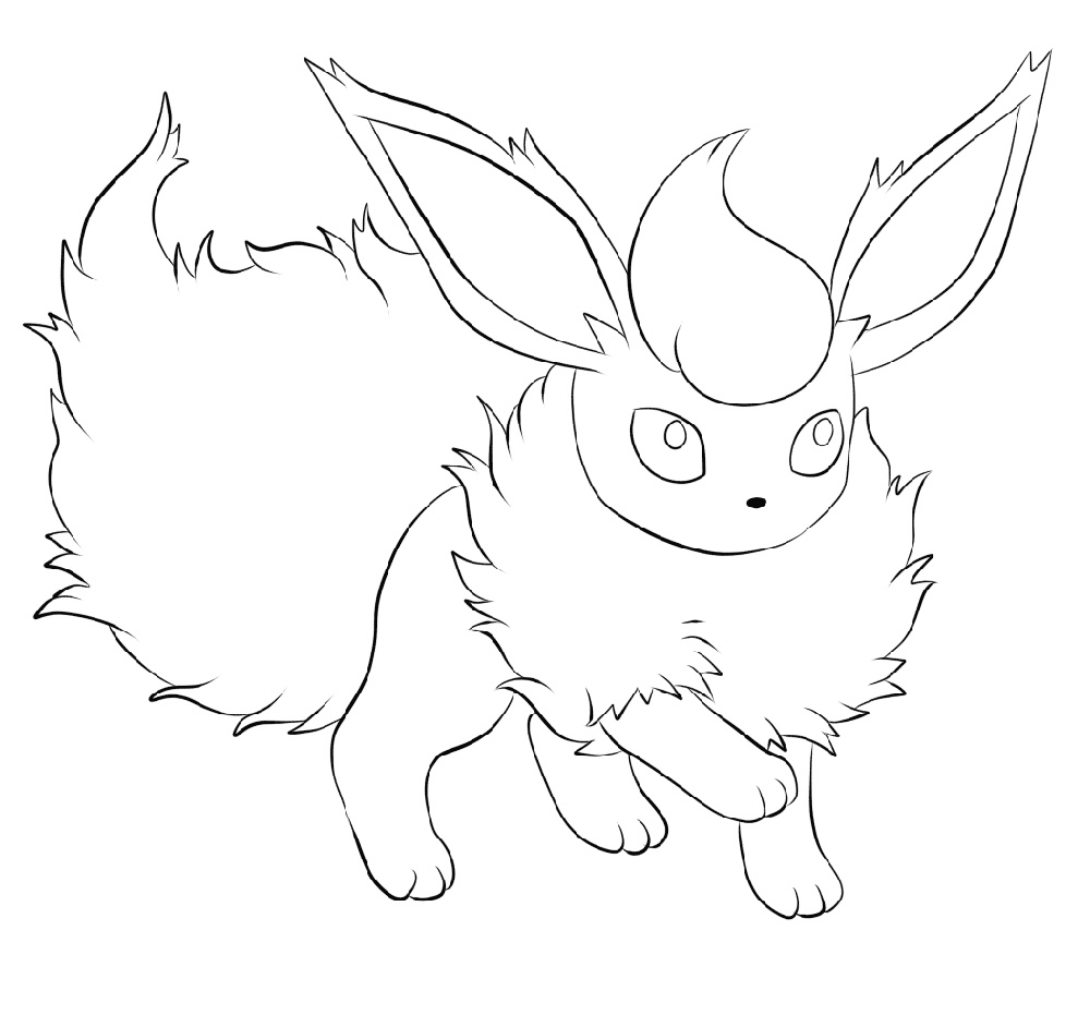 Flareon Coloring Page Pokemon
