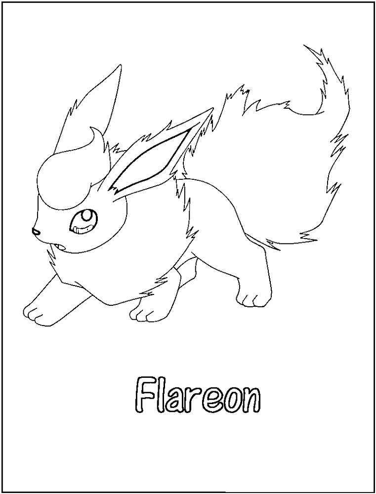 Flareon Coloring Page Printable
