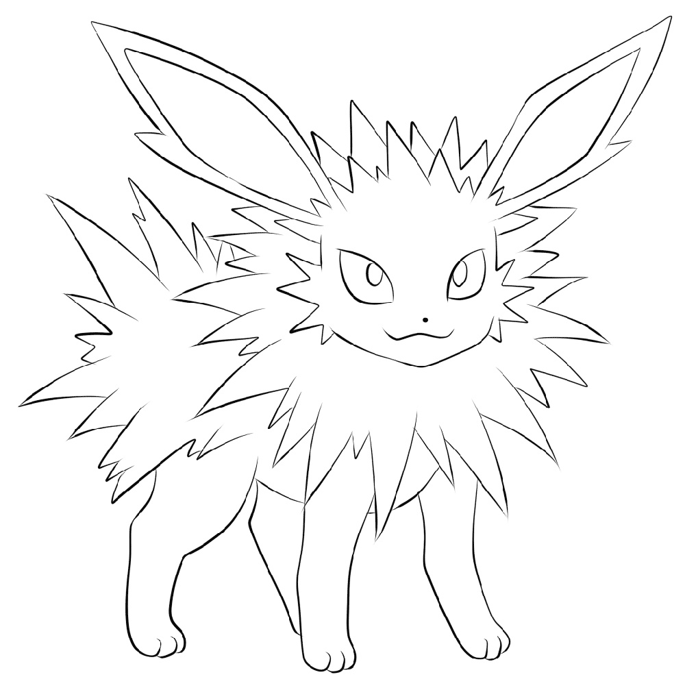 Flareon Coloring Page To Print
