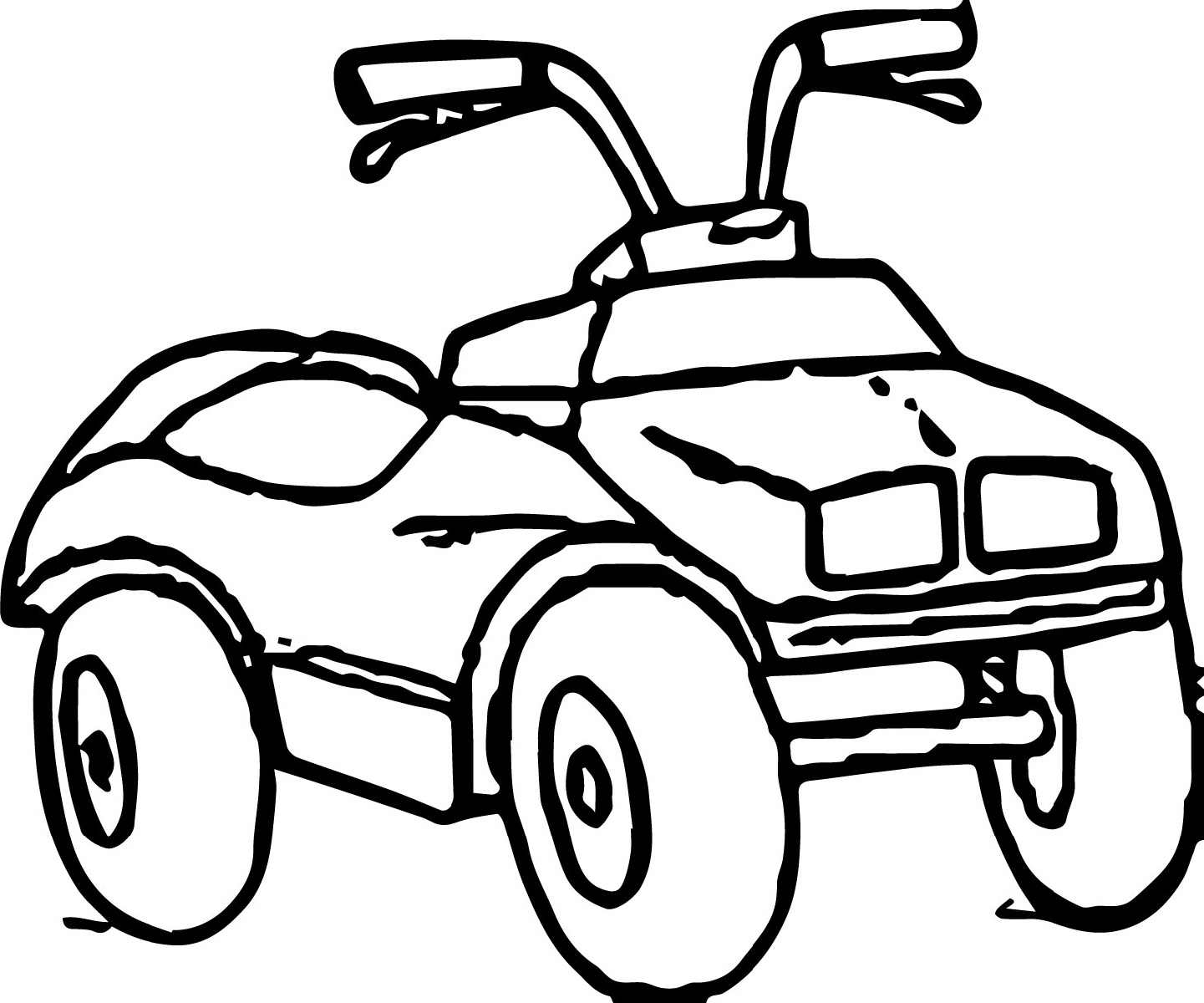 Four Wheeler Coloring Pages For Kids