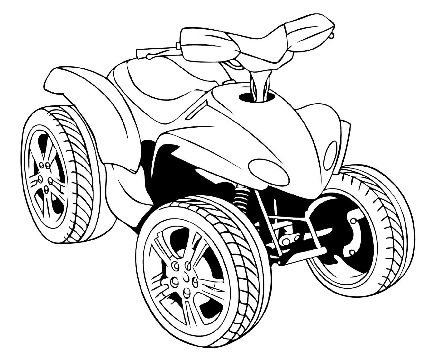 Four Wheeler Coloring Pages Free