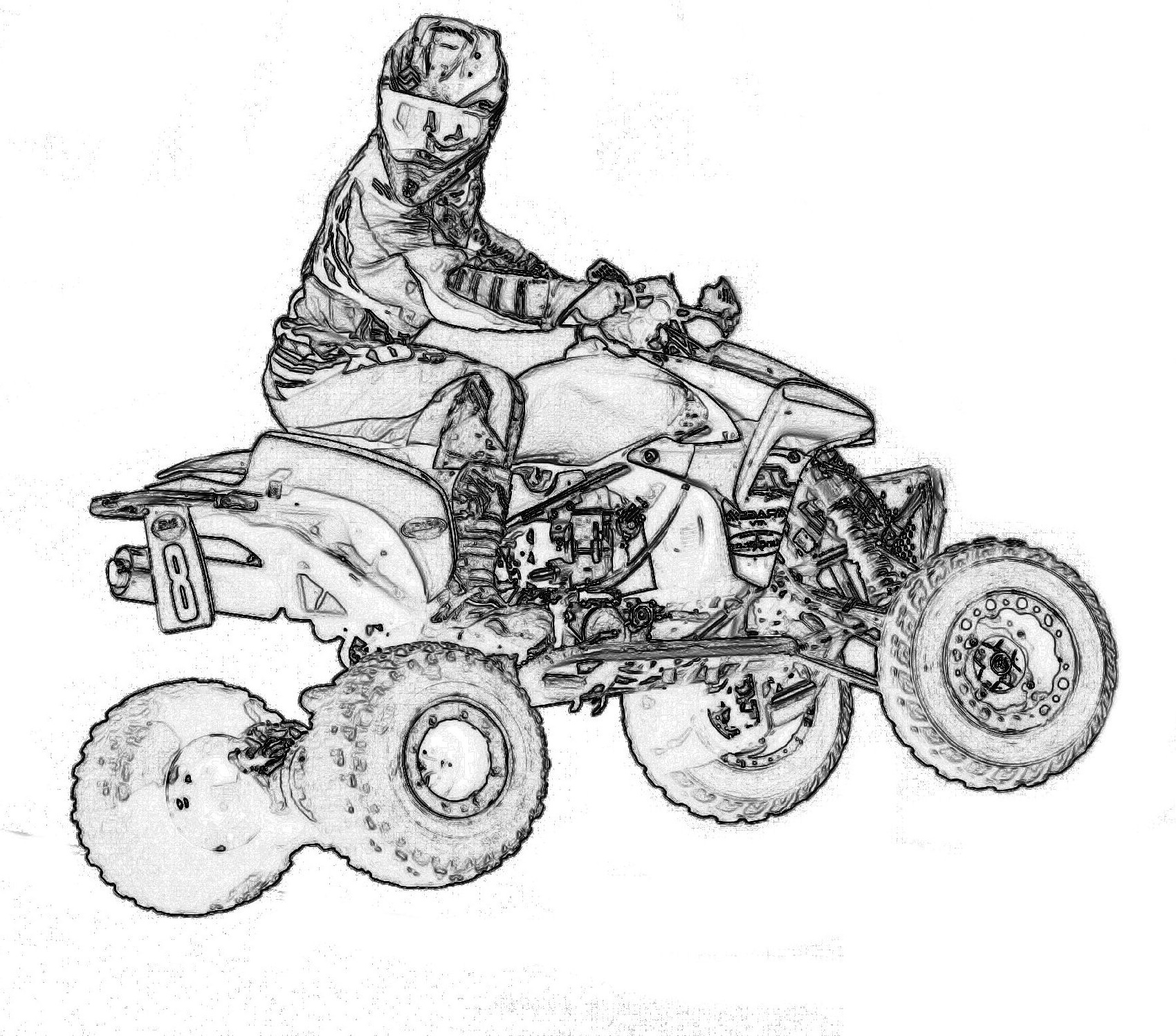 Four Wheeler Coloring Pages K5