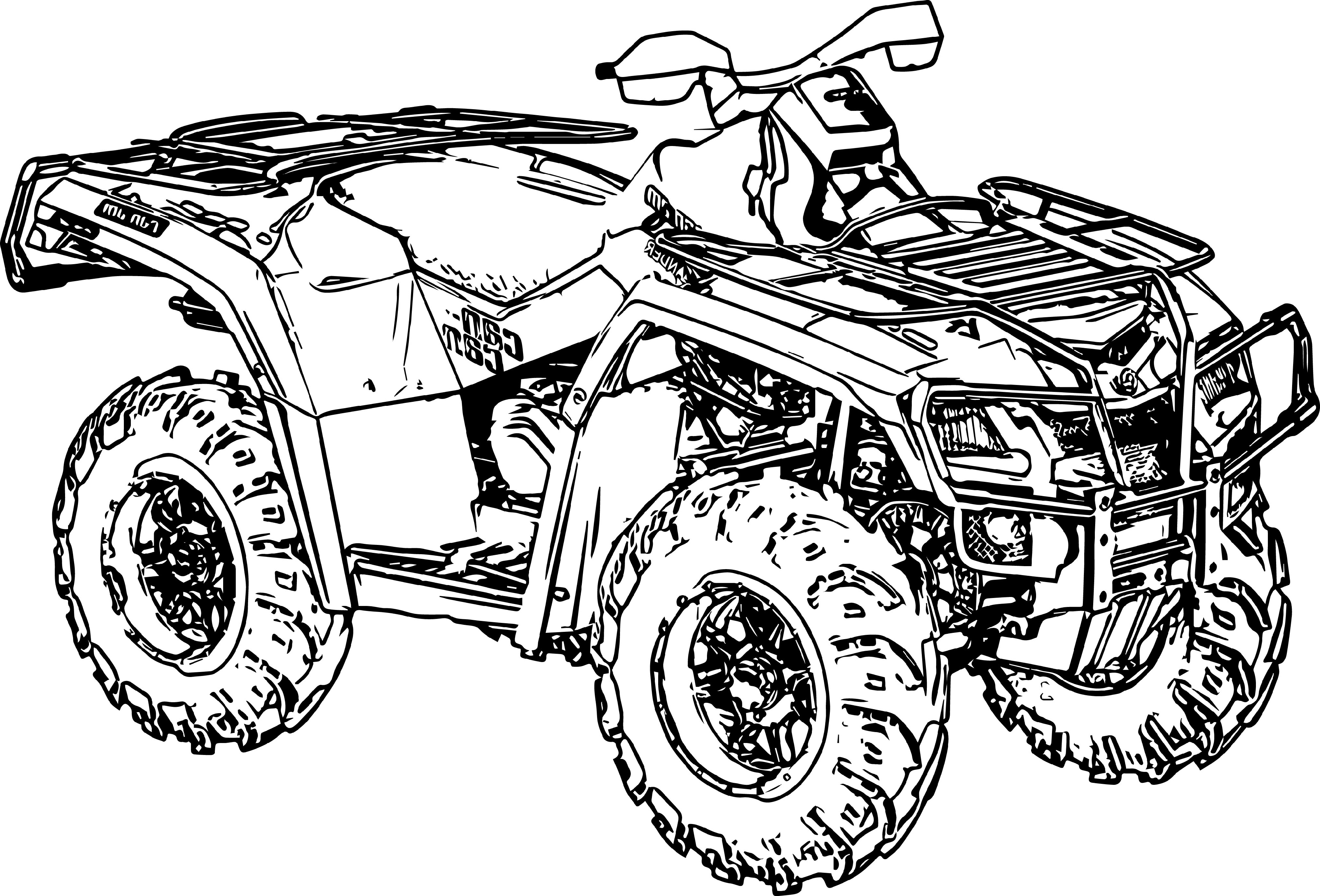 Four Wheeler Coloring Pages To Print