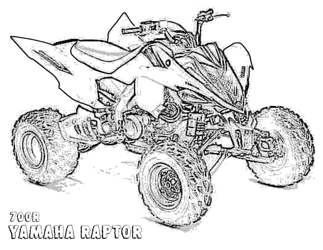 Four Wheeler Coloring Pages Yamaha Raptor