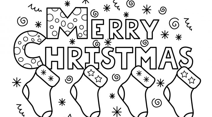 Free Printable Christmas Coloring Pages Merry Christmas