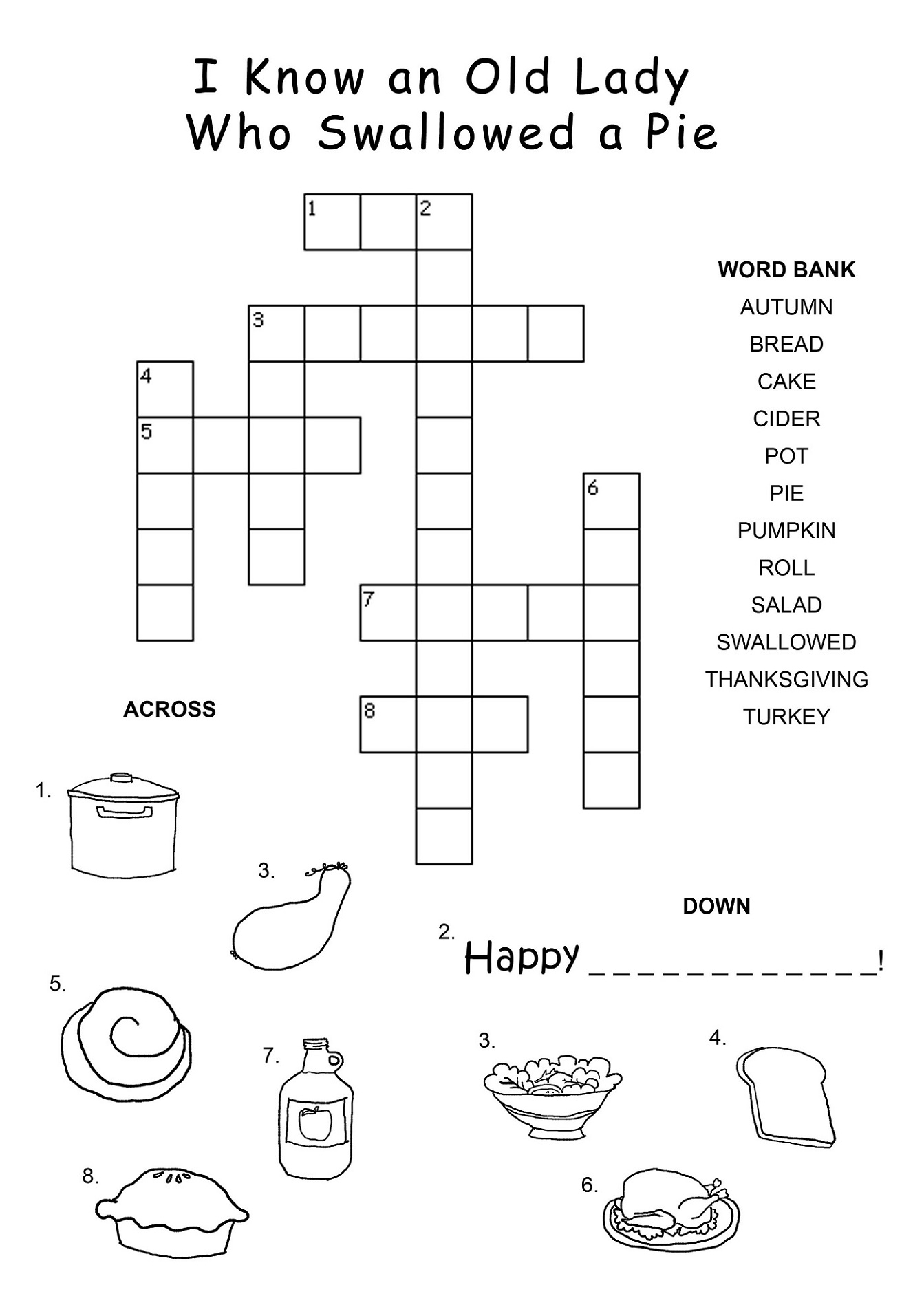 Free Printable Puzzles For Kids Crossword