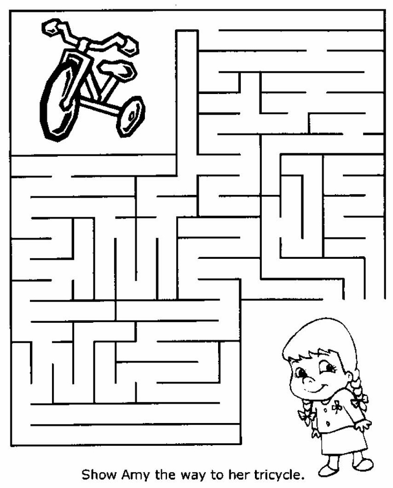 Free Printable Puzzles For Kids Maze