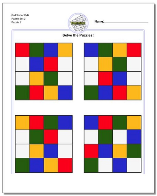 Free Printable Puzzles For Kids Sudoku