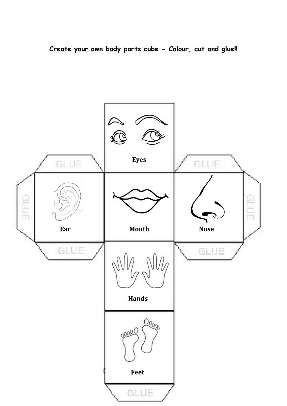 Fun Activity Worksheets Body Parts