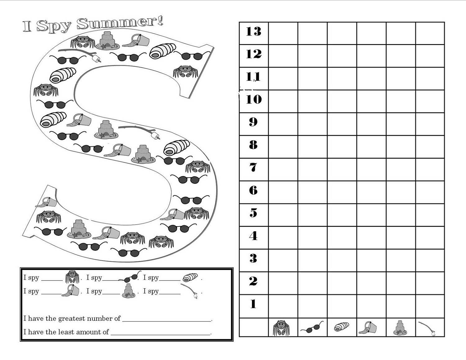 Fun Activity Worksheets Spying