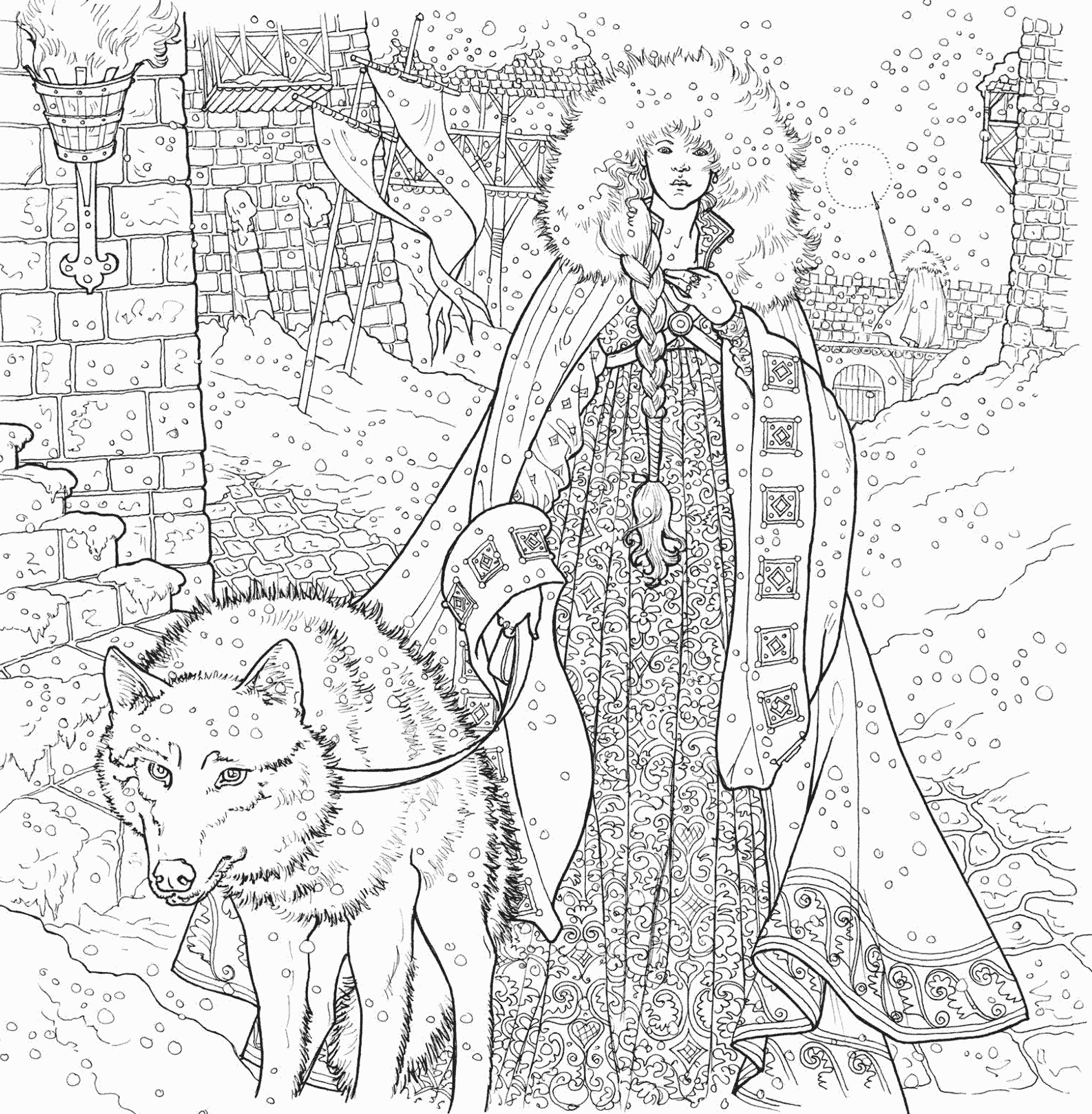 Game Of Thrones Coloring Book Pictures