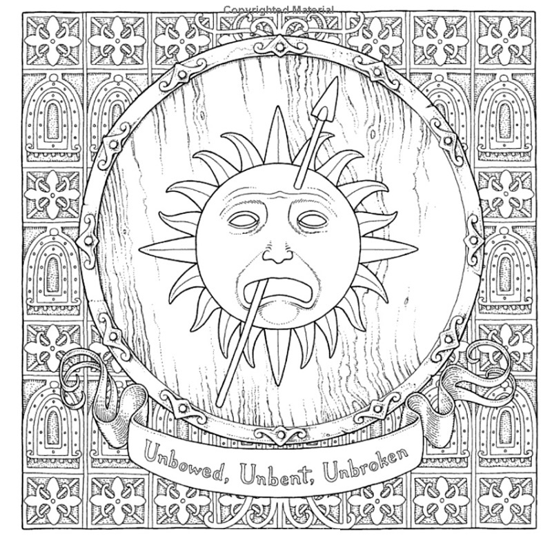Game Of Thrones Coloring Book Printable