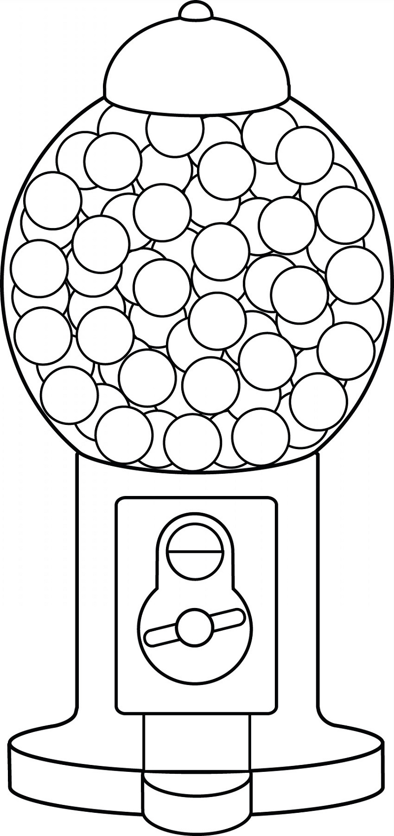 Gumball Machine Coloring Page Free