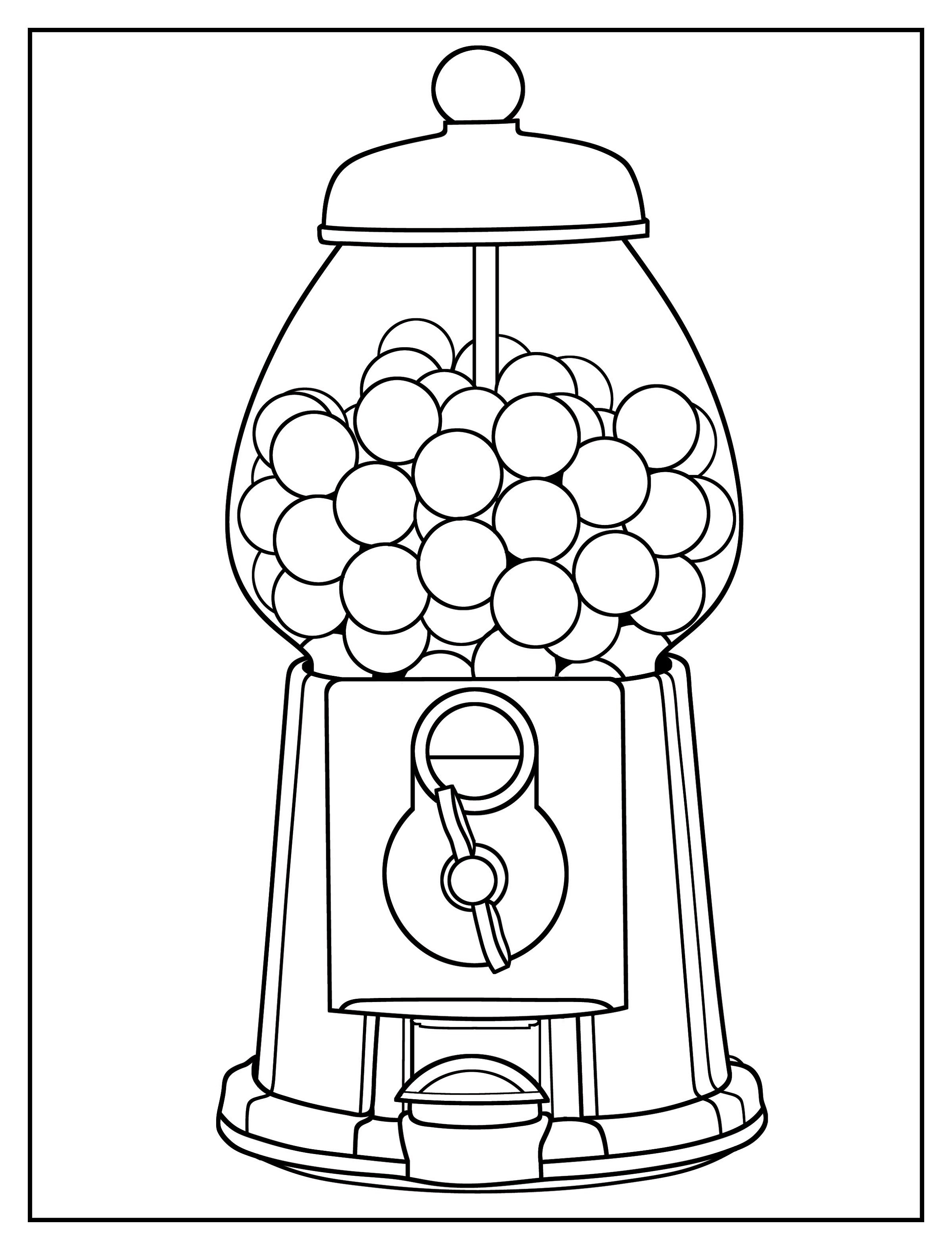 Gumball-Machine-Coloring-Page-Pictures
