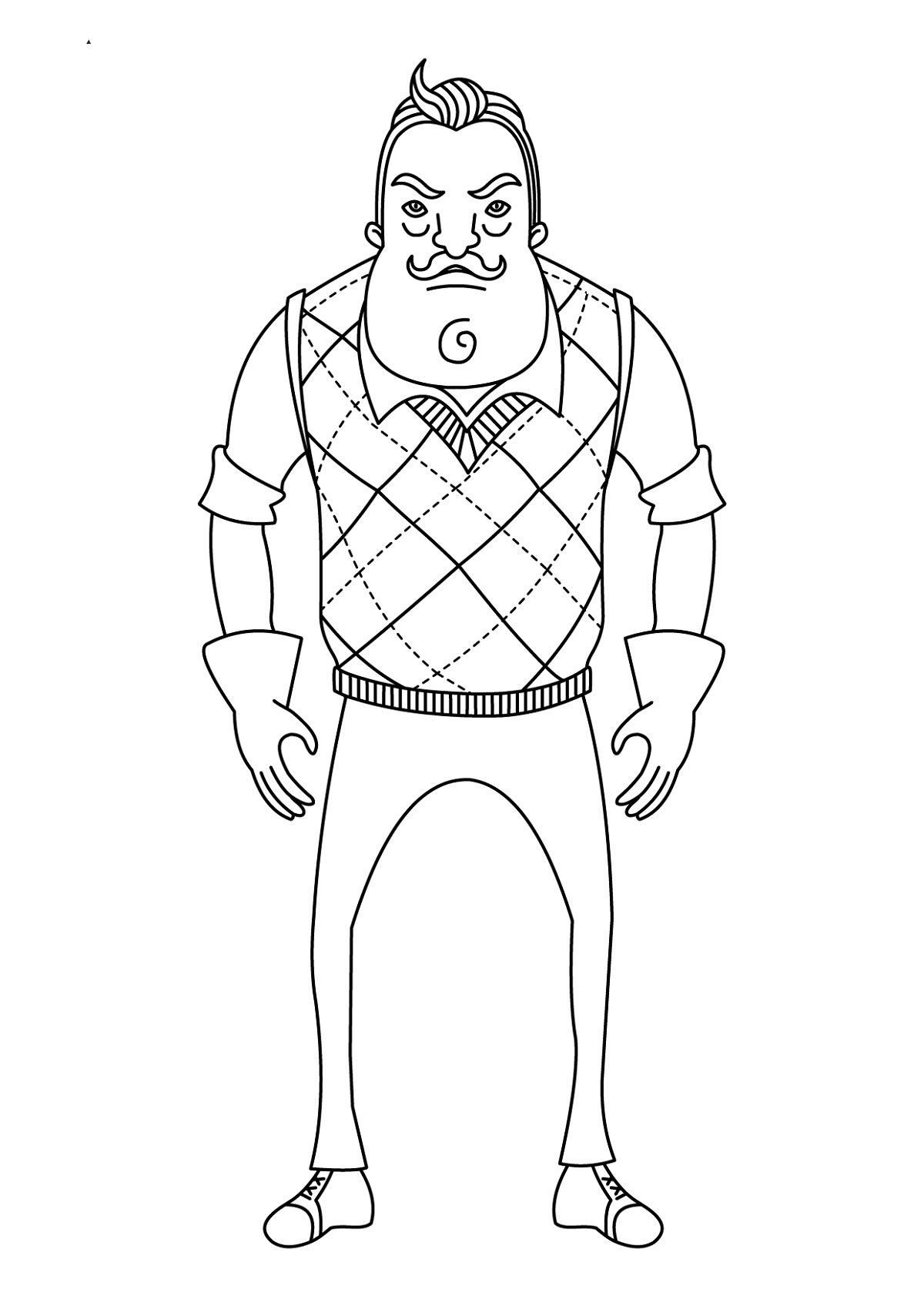 Hello Neighbor Coloring Pages Free